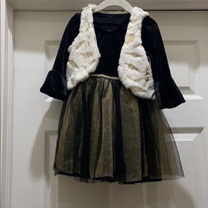 Nannette Little Girl's Vest and Dress
